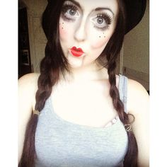 My take on ventriloquist dummy makeup