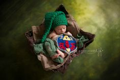 Link Newborn Photography Set Hyrule Shield and Hat by Dinobabies