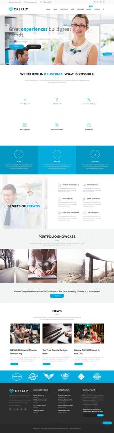Creativ is a professional, elegant, responsive #Joomla template, perfect for all fields of business like Hospital, Restaurant, Freelancer, Corporate, and E-commerce #websites. #Multipurposetheme