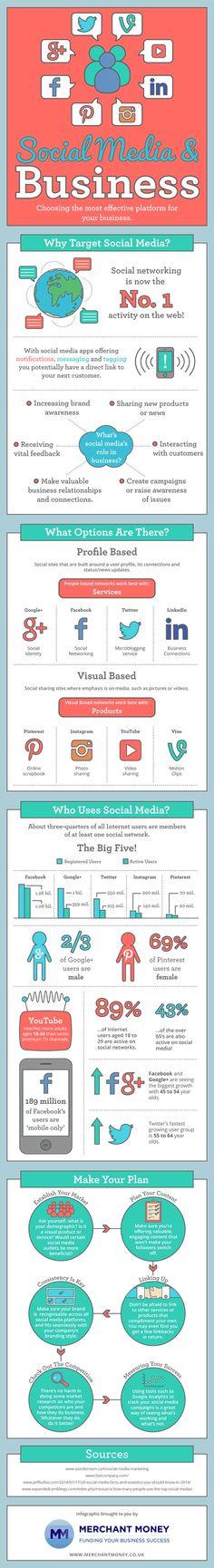 Escoger la mejor plataforma Social Media para tu negocio...