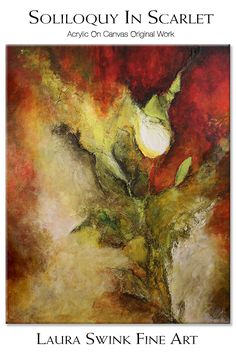 "The rose is the quintessential symbol of #romance and this piece seeks to create an atmosphere ​of a blazing white #rose bud set against the deep rich red colors of the background.  The result is an opticlal illusion of the rose being red, when it is actually white. 20""h x 16""w  Available today: $225 Free Shipping and Handling in the Continental US only. #painting #acrylic #roses #flowers"