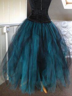 d0a537bd49 womens tutu skirt black green teal tulle skirt adult long maxi gothic goth  skirt prom skirt full length skirt floor length skirt s m l xl
