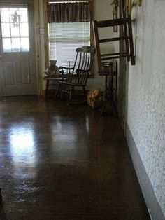 plywood floors stained