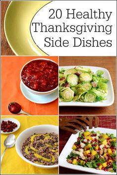 This roundup of healthy Thanksgiving side dishes includes recipes for all the holiday favorites without unhealthy ingredients. Add a few to your menu to keep things from getting out of hand this year!