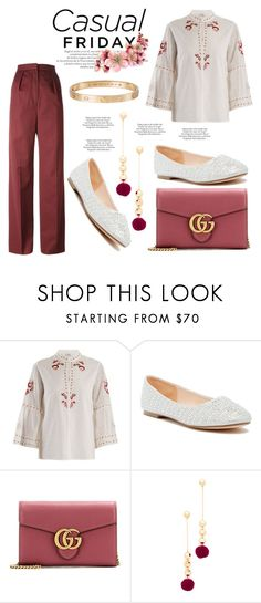 """""""Casual Friday"""" by hastypudding ❤ liked on Polyvore featuring Vilshenko, Lauren Lorraine, Gucci, Elizabeth and James, Cartier, ASOS, DIY, contest, polyvorecommunity and fashionset"""