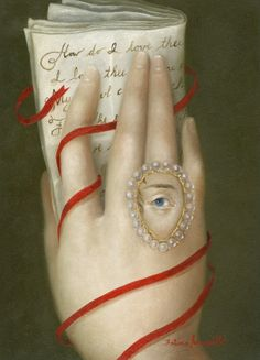 """hand with elizabeth barrett-browning's sonnet"" 