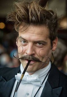 Love his steampunk moustache x