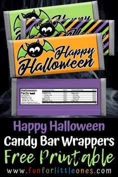 Free Printable Halloween Candy Bar Wrappers for Kids (Bat) Halloween Candy Buffet, Best Halloween Candy, Halloween Facts, Halloween Party Snacks, Holiday Candy, Halloween Kids, Vintage Halloween, Happy Halloween, Holiday Ideas