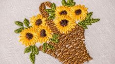 Hand Embroidery | Designs for Baby Clothes | Flower Basket | HandiWorks #47