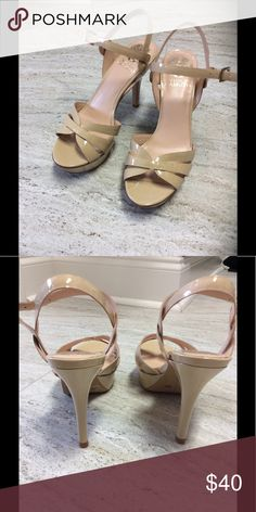 EEEEUC Vince Camuto Nude Heels I'm not sure if I've even worn these once? They may be brand new. I bought right before I got pregnant & now my foot is bigger so no longer fit 😭 Vince Camuto Shoes Heels