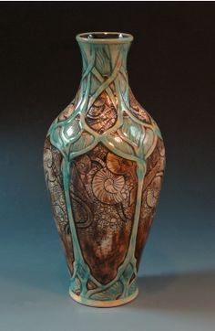 #CAPCA | CalmWater Designs | Stephanie Young | Art Nouveau | Fossil / Shell Vase
