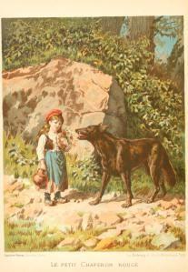Caperucita roja, en la edición francesa de 1904 de « Contes de Perrault »