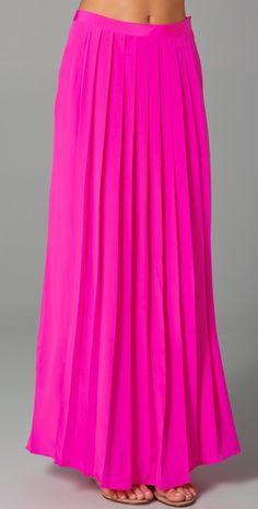 hot pink maxi skirt from tibi