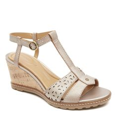 Another great find on #zulily! Valigia Brush Garden Court Leather Wedge by Rockport #zulilyfinds