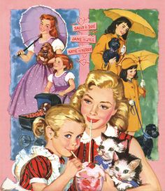 Six and Sweet Sixteen--I got this set when I was 8 years old--loved that they had pets, too!