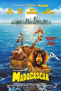 Madagascar (2005): Spoiled by their upbringing with no idea what wild life is really like, four animals from New York Central Zoo escape, unwittingly assisted by four absconding penguins, and find themselves in Madagascar, among a bunch of merry lemurs #movie