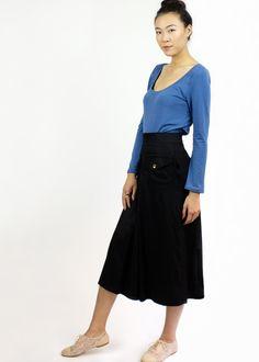 Margo scoop neck top / Long sleeve Handmade Top / Organic Cotton & bamboo Eco friendly fashion by SimonesRoseBoutique on Etsy