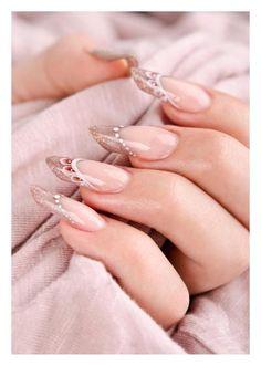 "Nail art by Eszter Varga  ""gothic almond"" - hand painted elegant nails"