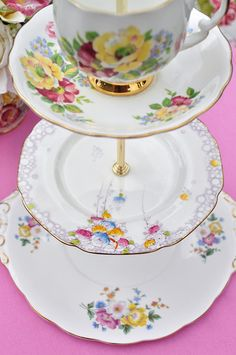 Eclectic Bone China Cup Cake Stand by cake-stand-heaven, via Flickr