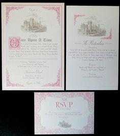 Fairytale Wedding Invitation Suite By Abbieleedesigns On Etsy
