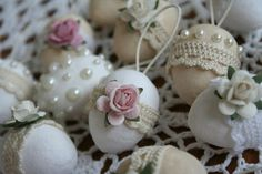 shabby chic easter  eggs | Kelly - shabby chic easter eggs