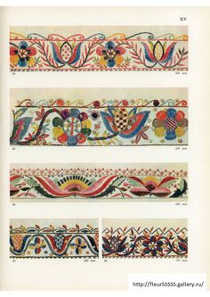 Gallery.ru / Фото #155 - 33 - Fleur55555 Hand Embroidery Projects, Crewel Embroidery Kits, Cross Stitch Embroidery, Embroidery Patterns, Ethno Style, Mexican Embroidery, Quilt Border, Applique Quilts, Pattern Art