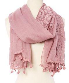 Look at this #zulilyfind! Mauve Lace Linen-Blend Scarf #zulilyfinds