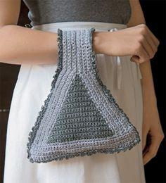 Borsa crochet da braccio grigia