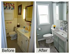 modern bathroom update before and after