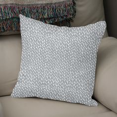 c1acf6edc983 Discover «Hand Knit Light Grey», Numbered Edition Throw Pillow by Project M  -