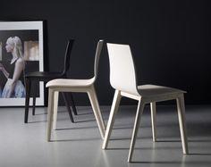 Chaise de bar design en bois - Sledge