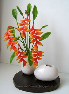 Clay Flower Art: Heliconia - Miniature