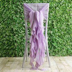 1 Set Amethyst Violet Chiffon Hoods With Curly Willow Chiffon Chair Sashes Lilac Wedding Themes, Lavender Wedding Theme, Purple Wedding Decorations, Banquet Decorations, Quinceanera Decorations, Wedding Ceremony Decorations, Quinceanera Ideas, Dark Purple Wedding, Purple Wedding Tables