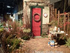 Red door garden - Shows small can be beautiful - by Pacific Stone in 2012 #nwfgs