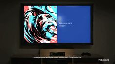 """xbox one ui   The Xbox One UI might be similar to Metro UI but its """"Welcome Screen ..."""