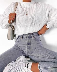 Cute Comfy Outfits, Casual Fall Outfits, Winter Fashion Outfits, Retro Outfits, Look Fashion, Stylish Outfits, Spring Outfits, Fashion Women, Fashion Shoes