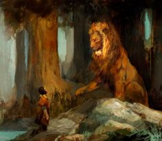 The Chronicles of Narnia concept art by Justin Sweet Illustrations, Illustration Art, Aslan Narnia, Comic Collage, Lion Of Judah, Chronicles Of Narnia, Painting Inspiration, Oeuvre D'art, Fantasy Art