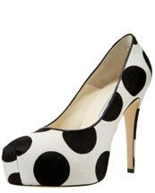 """Bergdorf Goodman, a unit of Neiman Marcus Group Inc., is trying to develop a following for its high-end clothing and accessories on Pinterest.     The retailer pinned these Brian Atwood Maniac Polka-Dot Platform pumps to its """"SHOES (that make us swoon)"""" board."""
