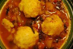 Three Sisters Soup with Cornmeal Dumplings, vegan Seafood Recipes, Pasta Recipes, Appetizer Recipes, Chicken Recipes, Vegan Recipes, Cooking Recipes, Three Sisters Soup, Fall Soup Recipes, Cornmeal Dumplings