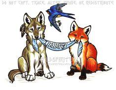 Illallangi - Wolf Fox Swallow Design by WildSpiritWolf