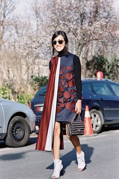 Fall / Winter Outfit Tip: How to Layer Your Turtleneck Sweater Under a Dress–15 Ways | @StyleCaster