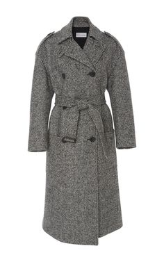 Chevron Tweed Coat by RED VALENTINO for Preorder on Moda Operandi