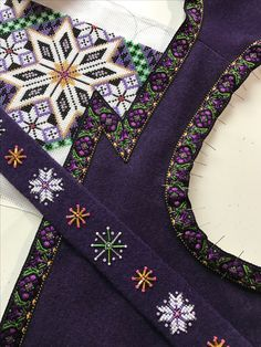 Made by Inger Johanne Wilde Hardanger Embroidery, Beaded Embroidery, Norwegian Clothing, Afghan Clothes, Frozen Costume, Costumes, Costume Ideas, Cute Designs, Traditional Dresses