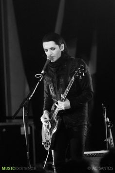 Brian Molko of Placebo live at the Escape Music Festival, NYC