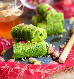 Pâtisserie turque à la pâte filo et aux pistaches facile à préparer Dessert Ramadan, Harira, Tea Time, Vegan, Cooking Recipes, Turkish Tea, Turkish Dessert, Vegans