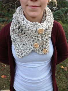 Cowl Scarf with Buttons