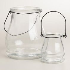 One of my favorite discoveries at WorldMarket.com: Clear Glass Teardrop Lantern Candleholder