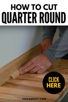 Quarter round is thin, rounded moulding that is used for a wide variety of trim projects. It's an attractive trim and is relatively easy for home DIYers and beginners to cut to size. Learn how to cut quarter round after the jump. Backyard Projects, Cool Diy Projects, Project Ideas, Wood Projects, Wall Molding, Moulding, Quarter Round Molding, Diy Cutting Board, Work Gloves