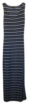 $19.95 with free shipping: blue Maxi Dress by Urban Life Striped Stretchy V-neck