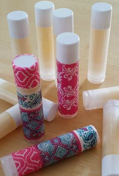 This Lavender Orange Lip Balm recipe makes a small batch of 12 tubes and uses essential oils. Perfect, easy and really INEXPENSIVE DIY project for gifts or your family.